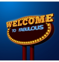 Vegas night life billboard sign poster vector image vector image