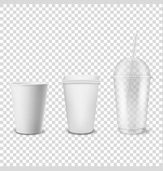3d realistic disposable opened and closed vector
