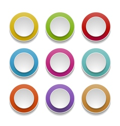 3d round buttons vector image