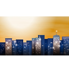 A view of the bright city vector
