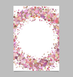 abstract blank confetti circle brochure vector image