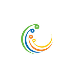abstract circle logo template vector image