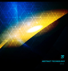 abstract explosion of light with hexagonal vector image
