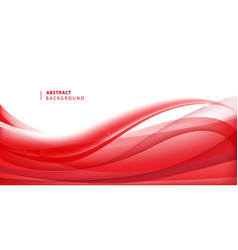 abstract red wavy background curve flow vector image