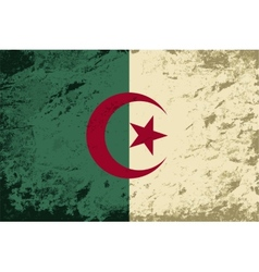 Algerian flag Grunge background vector