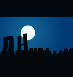 at night mexico building scenery vector image