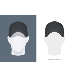 baseball cap at head vector image