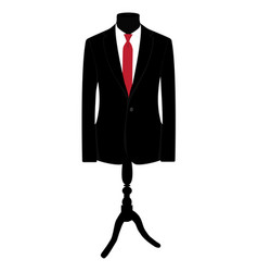 Black man suit vector image
