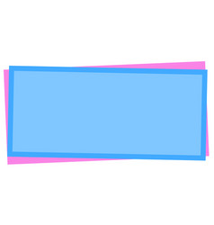 Blue pink card with blank space for your text vector