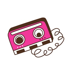 Broken cassette vector