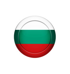 bulgarian flag on the round button vector image