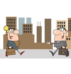 Business Meeting Between A Woman And Man vector image