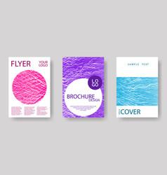 Catalog cover templates vector