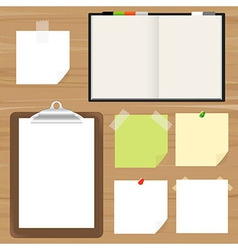 Clipboard and reminder note vector