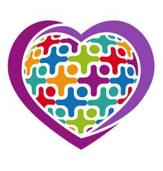 Community logo icon vector