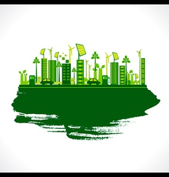 creative design go green or save earth design vector image