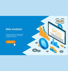 data analysis banner 01 vector image