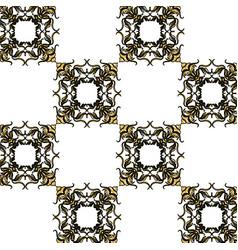 decorated flourishes element geometric seamless vector image