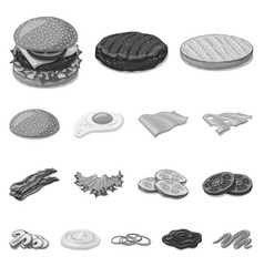 Design burger and sandwich icon vector