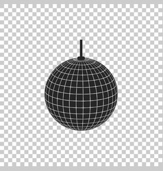 disco ball icon isolated on transparent background vector image