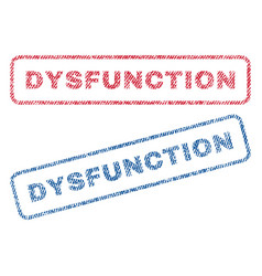 dysfunction textile stamps vector image