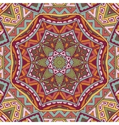 Festive colorful mandala star pattern vector