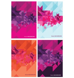 four abstract backgrounds for design vector image