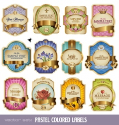 gold labels vector image
