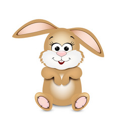 happy easter easter bunny vector image
