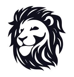 head lion vector image