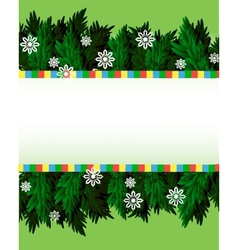 Holiday branches with snowflakes vector image