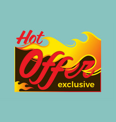 Hot deal price sale offer deal labels stickers vector