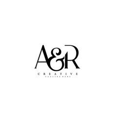 Initial letter ar logo design vector