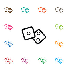 Isolated cube icon number element can b vector