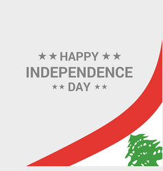Lebanon independence day typographic design with vector