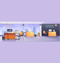 modern office interior business workplace vector image