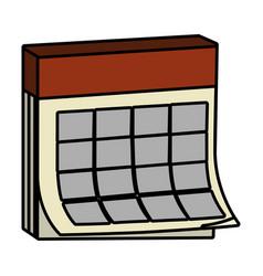 Month calendar cartoon vector
