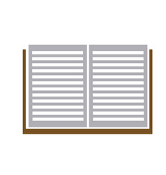 open book read learn library image vector image