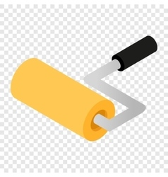 Paint roller isometric 3d icon vector