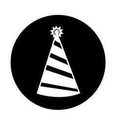 party hat icon design vector image