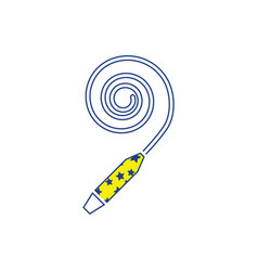 party whistle icon vector image