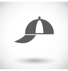 Peaked cap vector