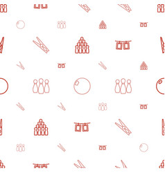 pins icons pattern seamless white background vector image