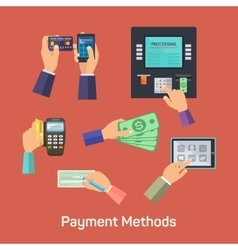 Possibilities of payment methods vector