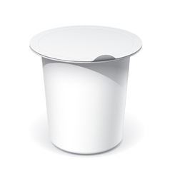 Realistic White blank plastic container for food vector image vector image