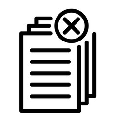 Request papers icon outline style vector
