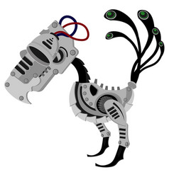 robot bird in metal steampunk style a cyborg vector image