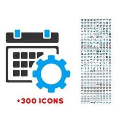 Schedule Configuration Icon vector