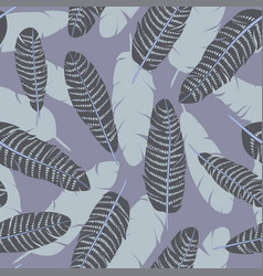seamless pattern of dotted feathers set vector image
