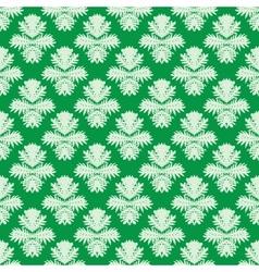 Simple elegant pattern in jade green vector